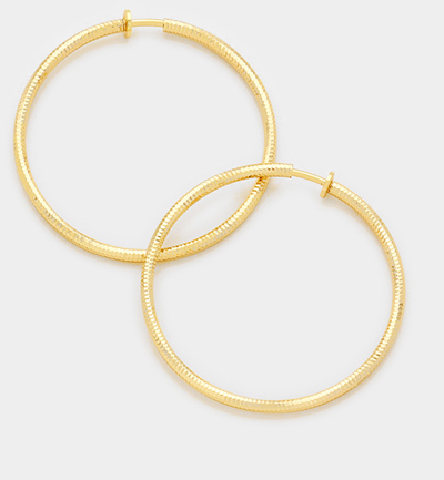 Clip On Oversize Hoops