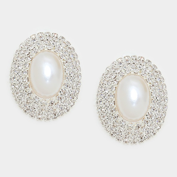 Oval Pearl Clip Ons