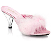 Fabulicious Pink Satin Mules