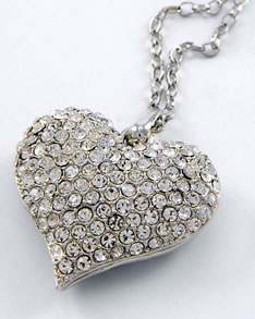 BIG Shiny Heart Necklace