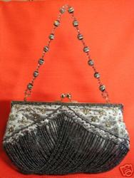 Crystal Bead Lace Evening Bag