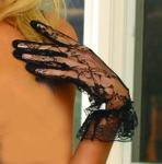 Lace Gloves w ruffle #1260